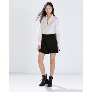 Zara Woman Knit Black Circle Skirt Size Large